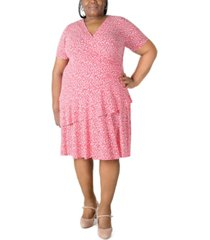 robbie bee plus size ruffled fit & flare dress
