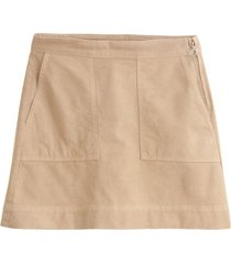 twill mini skirt in vintage khaki