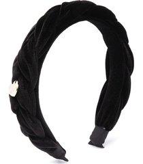 monnalisa braided headband - black