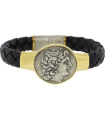 alexander the great leather bracelet