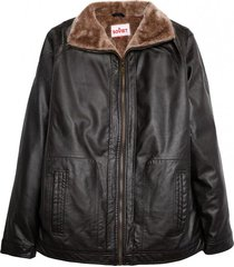 chaqueta pu negro soviet
