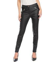 pantalón ash liso negro - calce ajustado