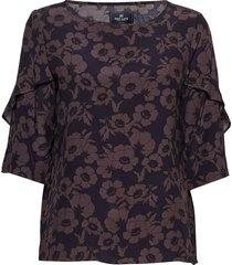 blouse blouses short-sleeved multi/mönstrad park lane
