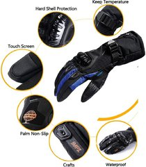 guantes impermeables  suomy tc5 azules