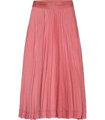 sunray pleat midi skirt knälång kjol rosa calvin klein