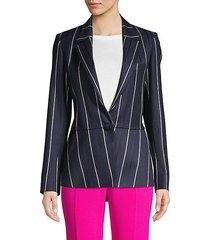 striped wool blend jacket