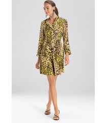 natori ombre animale, silky soft dress, women's, green, size 14 natori