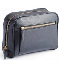 royce new york pebbled toiletry bag with front zipper compartment