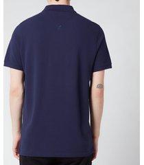 kenzo men's tiger crest polo shirt - navy blue - xl