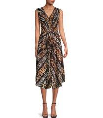 kobi halperin women's beverly animal-print silk dress - black multicolor - size xs