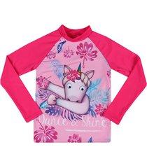 camiseta manga larga de baño rosado emoji  en tejido de punto  emol04