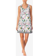 cuddl duds women's printed sleeveless nightgown