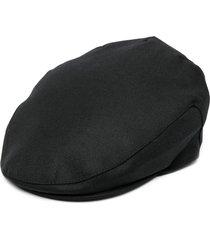 comme des garçons shirt wool flat cap - black