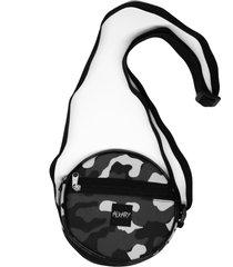 bolsa pequena redonda alkary camuflada preta