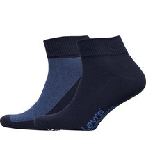 levis 168sf mid cut micro stripe 2p underwear socks regular socks blå levi´s