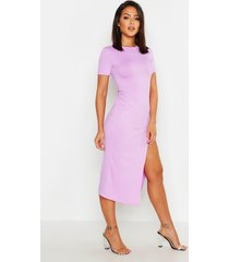 jumbo rib split side midi dress, lilac