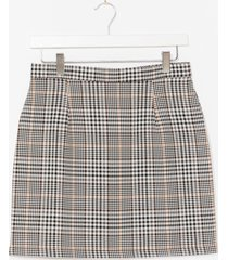 womens just checkin' in high-waisted mini skirt - sand