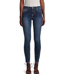 true religion women's jennie mid-rise super-skinny jeans - night cap - size 29 (6-8)