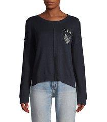 rails women's stafford patch sweater - navy - size xs