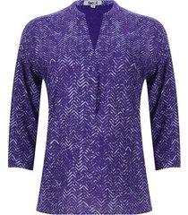 blusa lineas en zig zag color morado, talla l