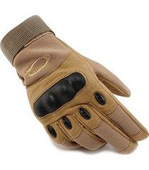 guantes moto protección antideslizantes ergonómicos tácticos motociclismo khaki
