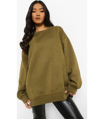 petite oversized sweater, khaki