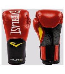 luva de boxe everlast pro style elite v2 vermelha