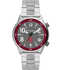 columbia men's outbacker oklahoma stainless steel bracelet watch 45mm