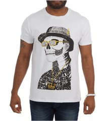 heads or tails 3d graphic skull with top hat t-shirt