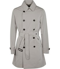 moorer double-breasted belted trench