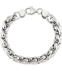 legacy for men by simone i. smith interlocking oval link bracelet in stainless steel