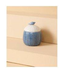 pote de cerâmica - pote nissi cor: azul - tamanho: único