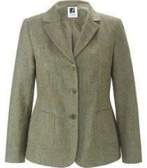 blazer met reverskraag van anna aura groen