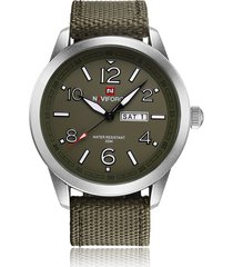 correa nylon reloj cuarzo hombre naviforce militar fechador