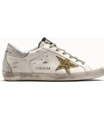 golden goose deluxe brand sneakers superstar colore bianco glitter