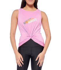 electric yoga women's namaste tank top - pink - size s