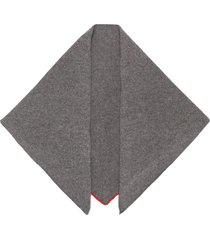 cashmere in love bea triangle scarf - grey