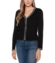 belldini black label long sleeve v-neck button up cardigan sweater