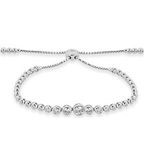 diamond fringe diamond and 14k white gold adjustable bracelet