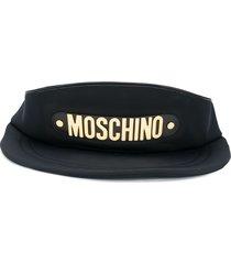 moschino baseball cap shoulder bag - black