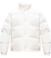 down jacket with rabbit fur
