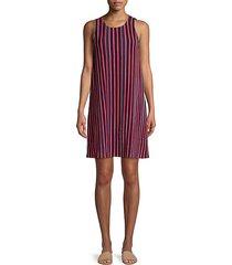 striped knit shift dress