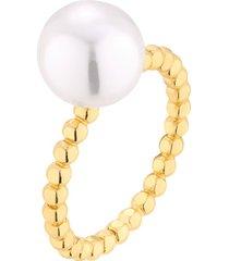 pierścionek pozłacany z perłą dzp409/dn/k/z