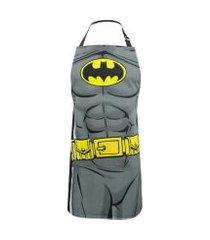 avental algodáo wb dc comics batman body preto 70x0,5x80cm