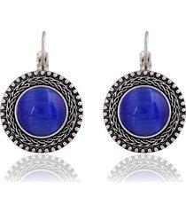orecchini pendenti con opali etnici scolpiti in argento tibetano vintage con cristalli per le donne