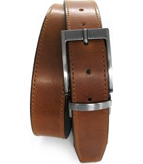 men's boconi reversible leather belt, size 38 - cognac