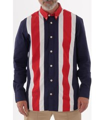 tommy hilfiger icon panelled shirt - peacoat mwomw10104