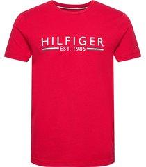 hilfiger 1985 tee t-shirts short-sleeved röd tommy hilfiger