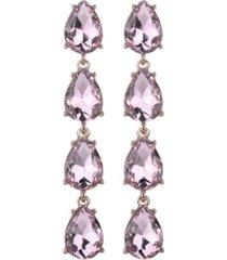 nicole miller four teardrop stone earring