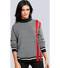 trui alba moda zwart::wit::rood